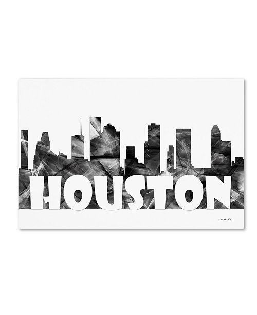 "Trademark Global Marlene Watson 'Houston Texas Skyline BG-2' Canvas Art - 30"" x 47"""