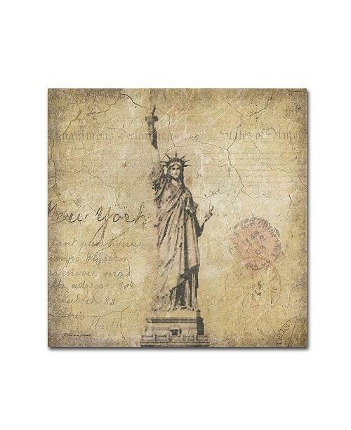 """Trademark Global Stephanie Marrott 'Liberty' Canvas Art - 35"""" x 35"""""""