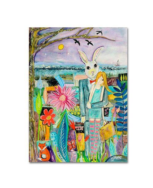 "Trademark Global Wyanne 'Big Eyed Girl Promised Land' Canvas Art - 35"" x 47"""