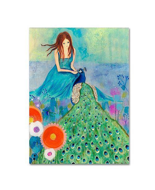 "Trademark Global Wyanne 'Peacock Garden' Canvas Art - 35"" x 47"""