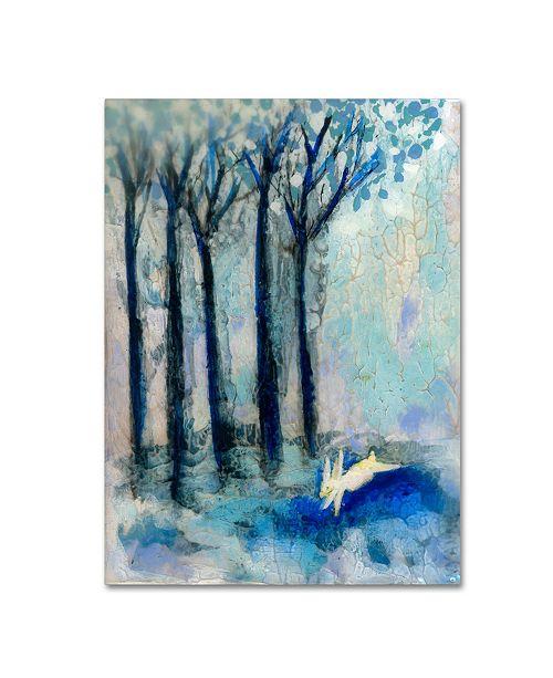 """Trademark Global Wyanne 'White Rabbit' Canvas Art - 35"""" x 47"""""""