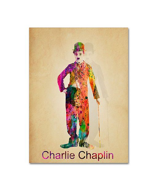 "Trademark Global Mark Ashkenazi 'Charlie Chaplin' Canvas Art - 24"" x 32"""