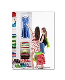 "The Macneil Studio 'Girls Shopping' Canvas Art - 35"" x 47"""