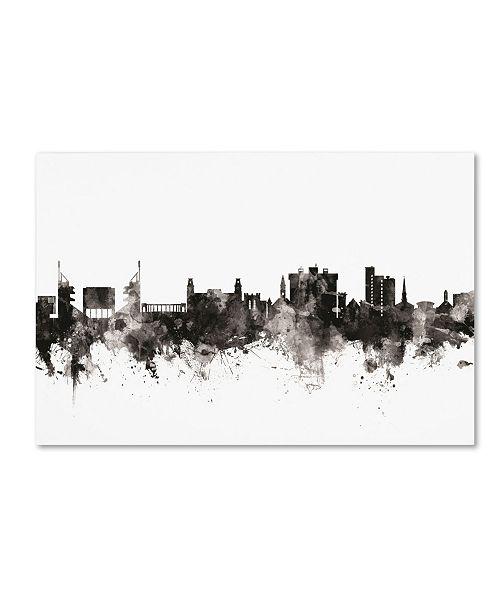 """Trademark Global Michael Tompsett 'Fayetteville Arkansas Skyline III' Canvas Art - 30"""" x 47"""""""