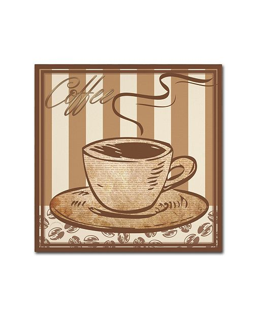 "Trademark Global Masters Fine Art 'Coffee' Canvas Art - 35"" x 35"""