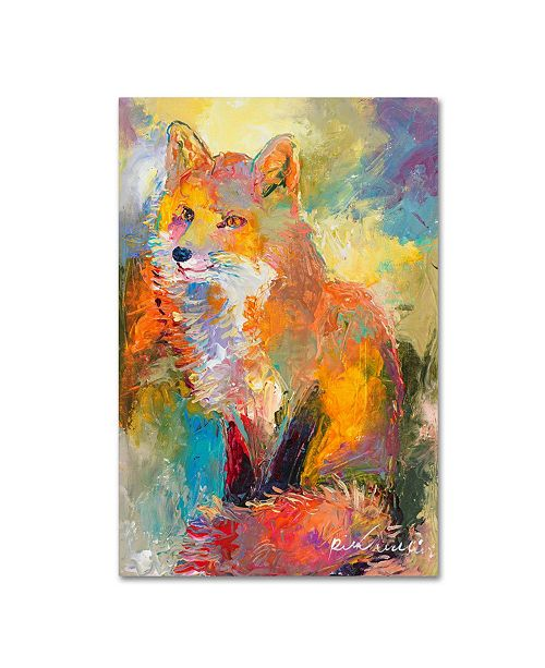 "Trademark Global Richard Wallich 'Fox' Canvas Art - 22"" x 32"""