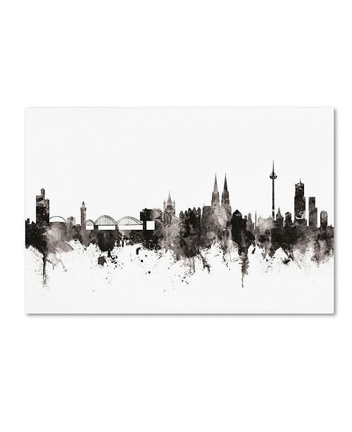 "Trademark Global Michael Tompsett 'Cologne Germany Skyline I' Canvas Art - 22"" x 32"""