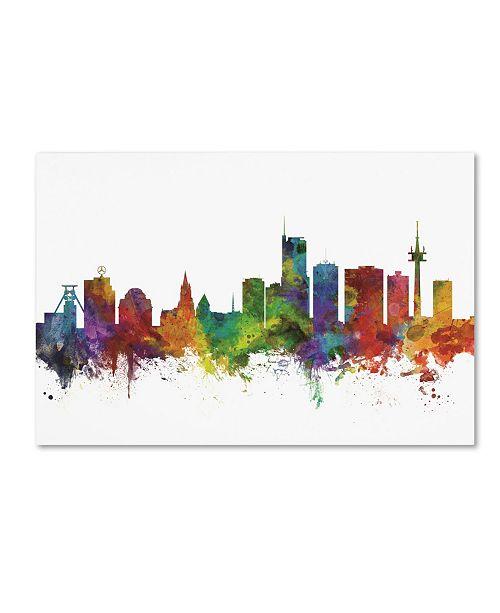 "Trademark Global Michael Tompsett 'Essen Germany Skyline II' Canvas Art - 22"" x 32"""