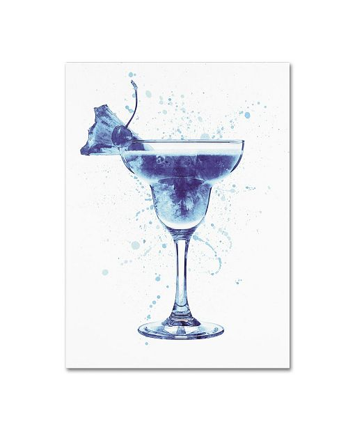 "Trademark Global Michael Tompsett 'Cocktail Drinks Glass Watercolor III' Canvas Art - 24"" x 32"""
