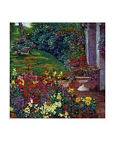 "David Lloyd Glover 'Color Palette Garden' Canvas Art - 35"" x 35"""