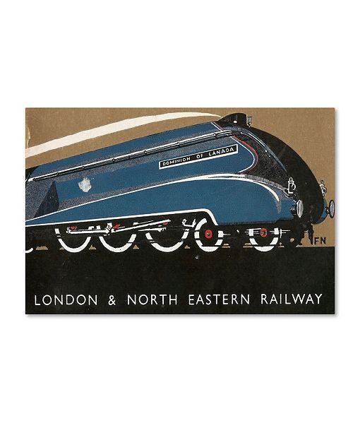 "Trademark Global Vintage Apple Collection 'London Eastern Rail' Canvas Art - 30"" x 47"""