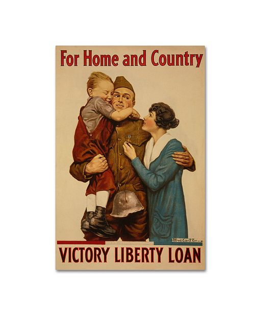 """Trademark Global Vintage Apple Collection 'Victory' Canvas Art - 22"""" x 32"""""""