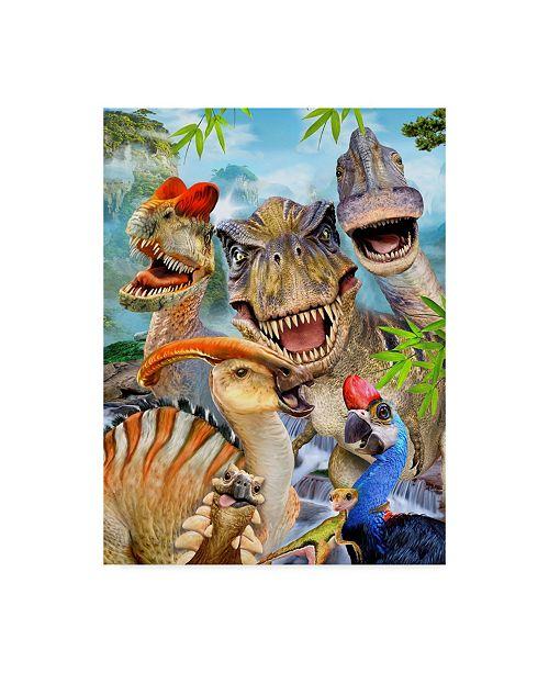 "Trademark Global Howard Robinson 'Dinosaur Pictures' Canvas Art - 24"" x 32"""