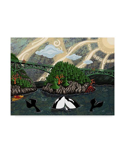"""Trademark Global Jake Hose 'Deception Pass' Canvas Art - 35"""" x 47"""""""
