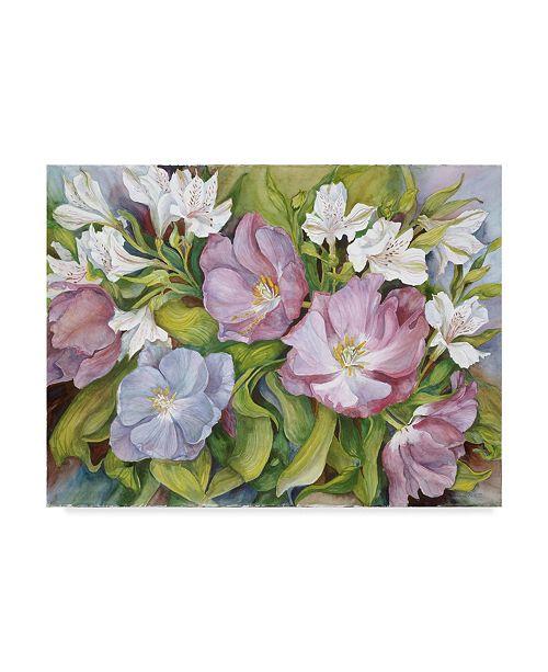 "Trademark Global Joanne Porter 'Purple Tulips White Austronesia' Canvas Art - 24"" x 32"""