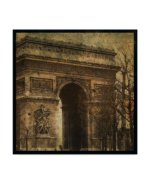 "Trademark Global John W. Golden 'Arc De Triomphe' Canvas Art - 35"" x 35"""