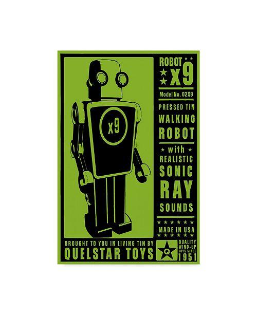 """Trademark Global John W. Golden 'Quelstar X9 Tin Toy Robot' Canvas Art - 22"""" x 32"""""""