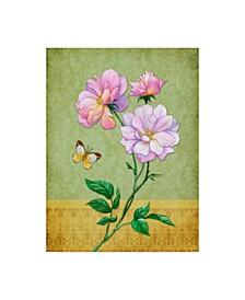"Maria Rytova 'Pink Roses' Canvas Art - 35"" x 47"""