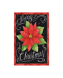 "Melinda Hipsher 'Poinsettia Merry Christmas Flag' Canvas Art - 30"" x 47"""