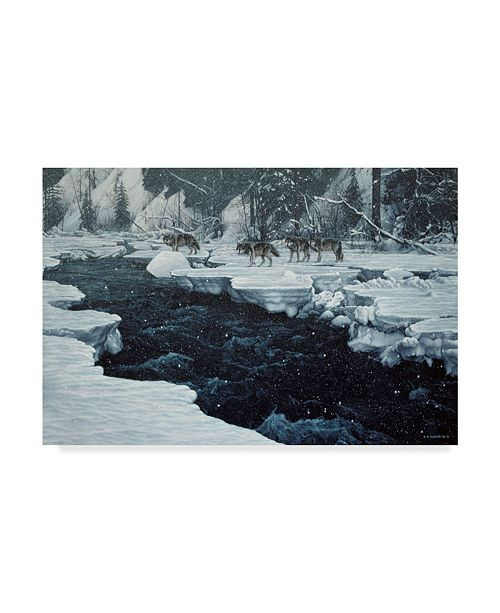 "Trademark Global Ron Parker 'Winter Crossing' Canvas Art - 30"" x 47"""