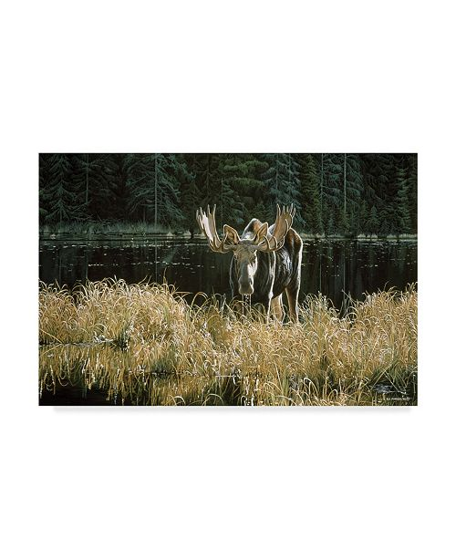 "Trademark Global Ron Parker 'Autumn Foraging Moose' Canvas Art - 30"" x 47"""