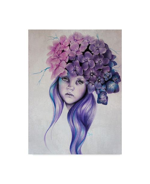 "Trademark Global Sheena Pike Art And Illustration 'Hydrangea' Canvas Art - 24"" x 32"""