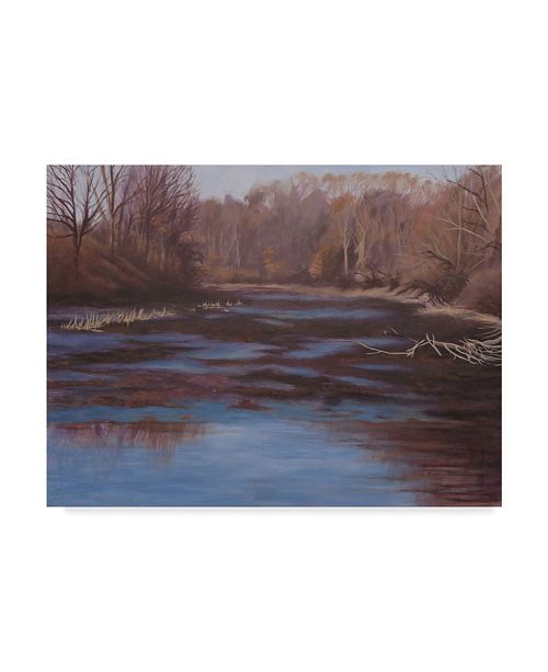 "Trademark Global Rusty Frentner 'Huron River Cove' Canvas Art - 35"" x 47"""