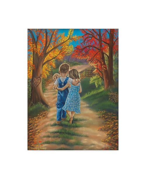 "Trademark Global Tricia Reilly-Matthews 'Fall In Love' Canvas Art - 35"" x 47"""