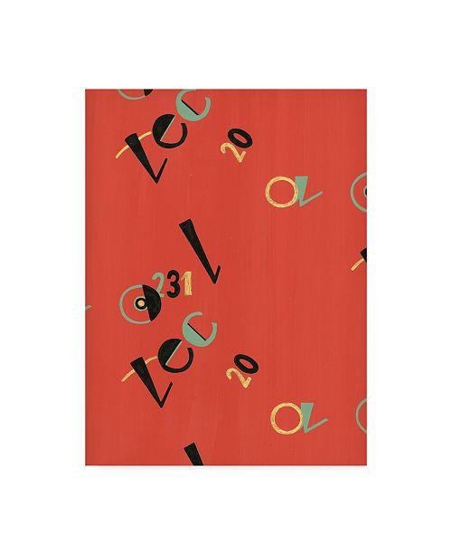 "Trademark Global Joyce Bantock 'Russian Letters Red' Canvas Art - 24"" x 32"""