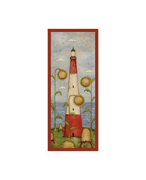 """Trademark Global Robin Betterley 'Sunflower Lighthouse' Canvas Art - 8"""" x 19"""""""
