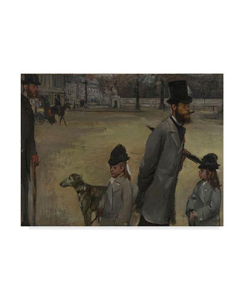 "Trademark Global Edgar Degas 'Place De La Concorde' Canvas Art - 32"" x 24"""