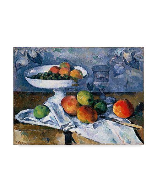 "Trademark Global Paul Cezanne 'Still Life With Fruit Dish' Canvas Art - 47"" x 35"""