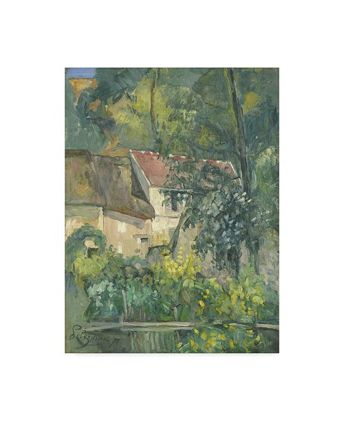 "Trademark Global Paul Cezanne 'House Of Pere Lacroix' Canvas Art - 47"" x 35"""
