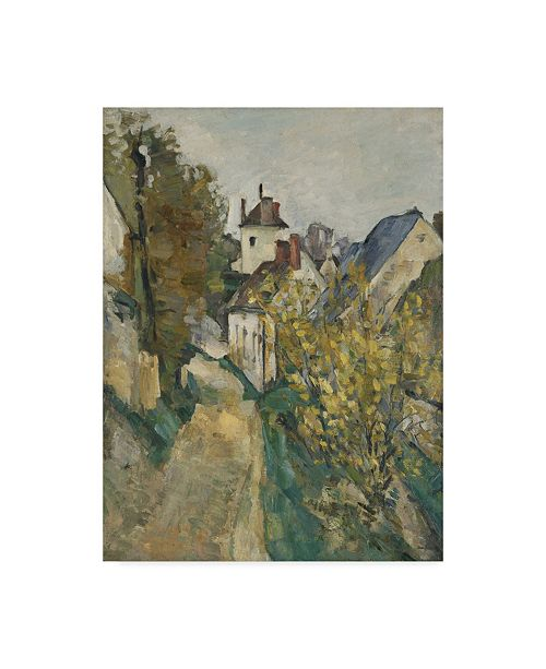 "Trademark Global Paul Cezanne 'The House Of Dr Gachet In Auverssuroise' Canvas Art - 47"" x 35"""