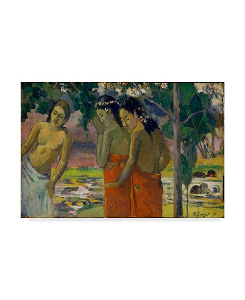 "Trademark Global Paul Gauguin 'Three Tahitian Women' Canvas Art - 47"" x 30"""
