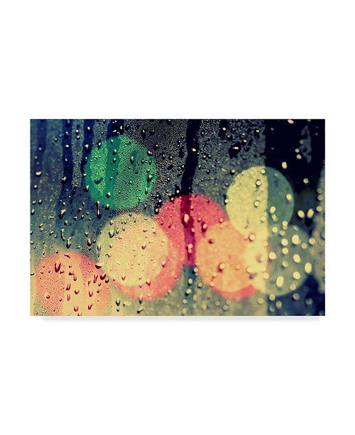 "Trademark Global Incredi 'Rainy City' Canvas Art - 32"" x 22"""