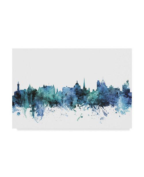 "Trademark Global Michael Tompsett 'Victoria Canada Blue Teal Skyline' Canvas Art - 24"" x 16"""