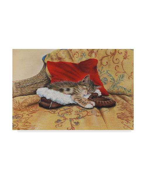 "Trademark Global Janet Pidoux 'Comfy Slipper' Canvas Art - 47"" x 30"""