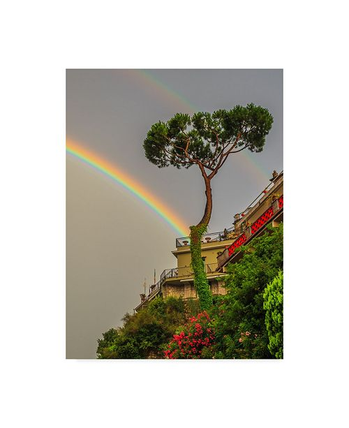 "Trademark Global Jason Matias 'Double Rainbow Building' Canvas Art - 35"" x 47"""