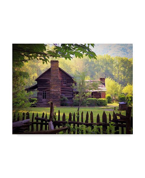 "Trademark Global J.D. Mcfarlan 'Oconaluftee Village' Canvas Art - 32"" x 24"""