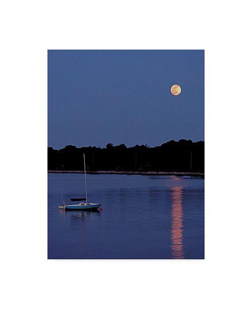 "Trademark Global J.D. Mcfarlan 'Quiet Cove Boat' Canvas Art - 35"" x 47"""