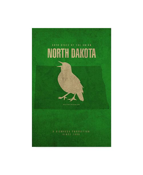 "Trademark Global Red Atlas Designs 'State Animal North Dakota' Canvas Art - 30"" x 47"""