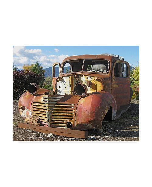 "Trademark Global Larry Hunter 'Old Wine Truck' Canvas Art - 47"" x 35"""