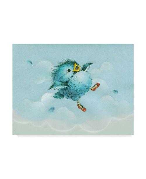"""Trademark Global Peggy Harris 'Over The Rainbow Bird' Canvas Art - 24"""" x 18"""""""