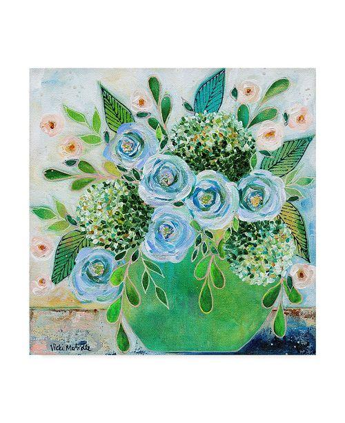 "Trademark Global Vicki Mcardle Art 'Going Home Flowers' Canvas Art - 24"" x 24"""