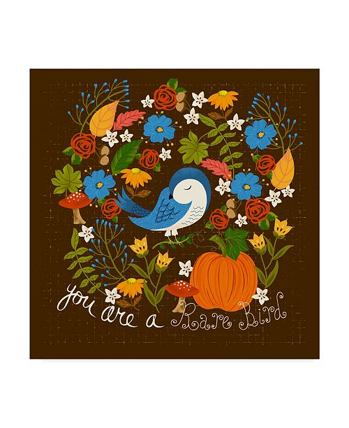 "Trademark Global Lisa Powell Braun 'Autumn Bird' Canvas Art - 35"" x 35"""