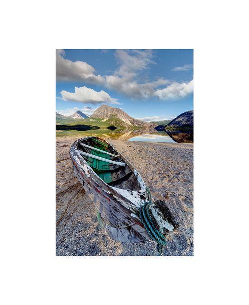 "Trademark Global Maciej Duczynski 'Mountain Rustic Norway 35' Canvas Art - 30"" x 47"""