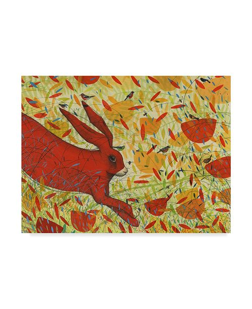 "Trademark Global Michelle Campbell 'Summer Red Rabbit' Canvas Art - 24"" x 18"""