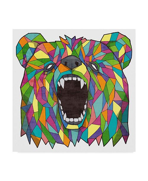 """Trademark Global Ric Stultz 'Grizzly Multi Color' Canvas Art - 24"""" x 24"""""""