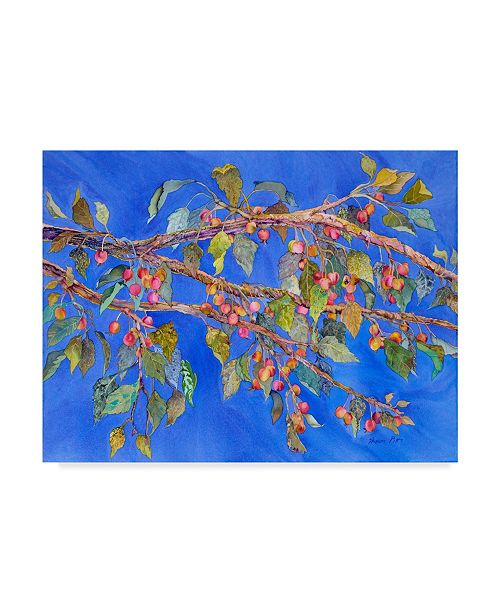 "Trademark Global Sharon Pitts 'Crab Apple In Tree' Canvas Art - 24"" x 18"""